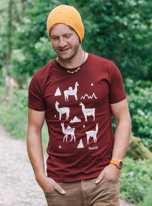 Llama Mens organic T-shirt