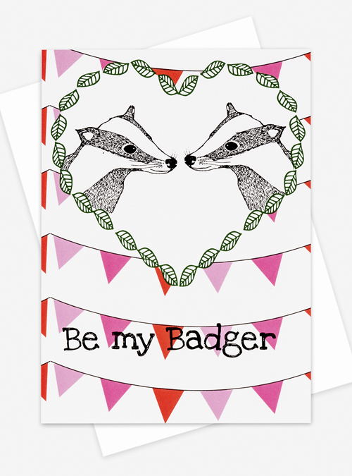 cute badger card