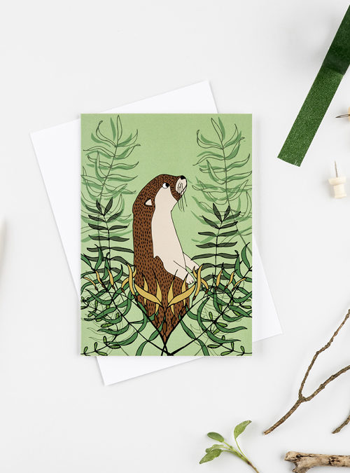 otter and kelp card