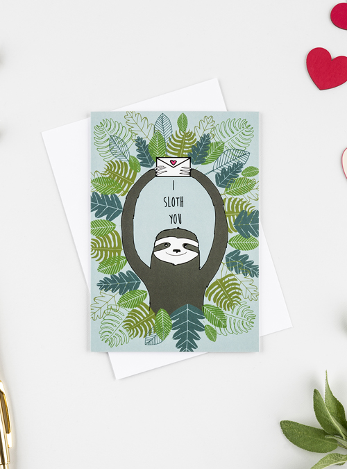 i sloth you card