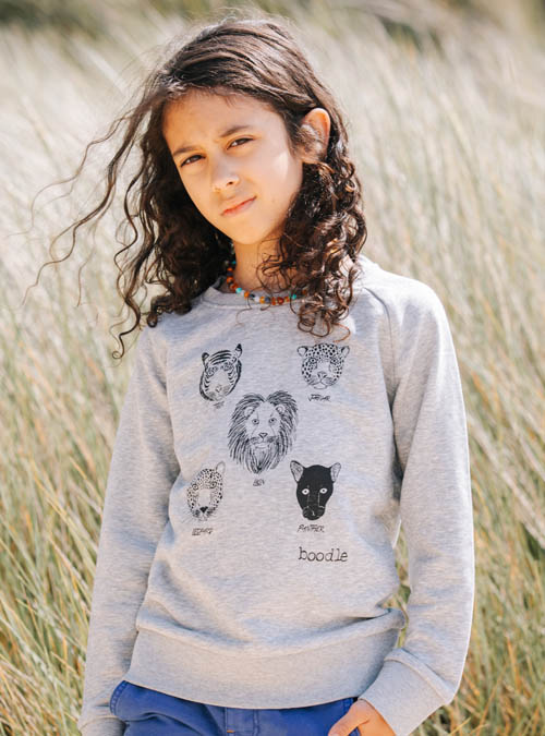 Big cats kids sweater