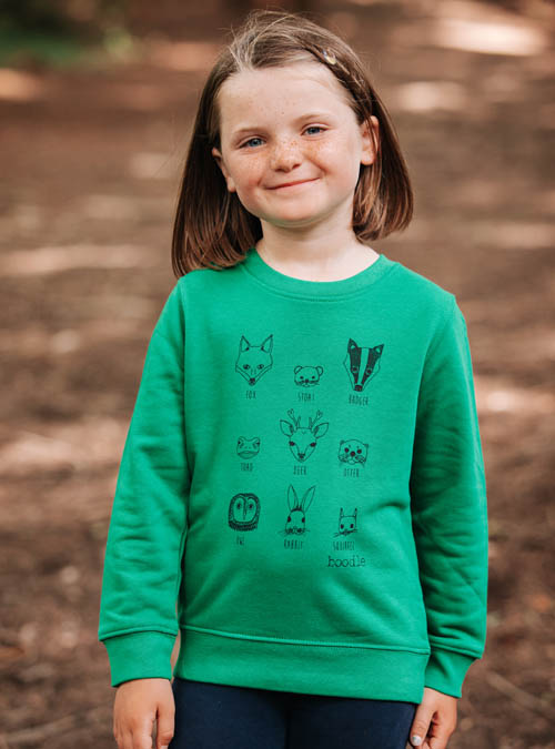 Animal faces kids sweater