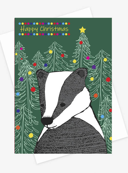 Badger xmas card