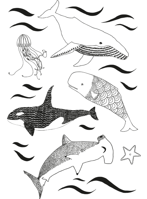 Under the sea colouring sheet
