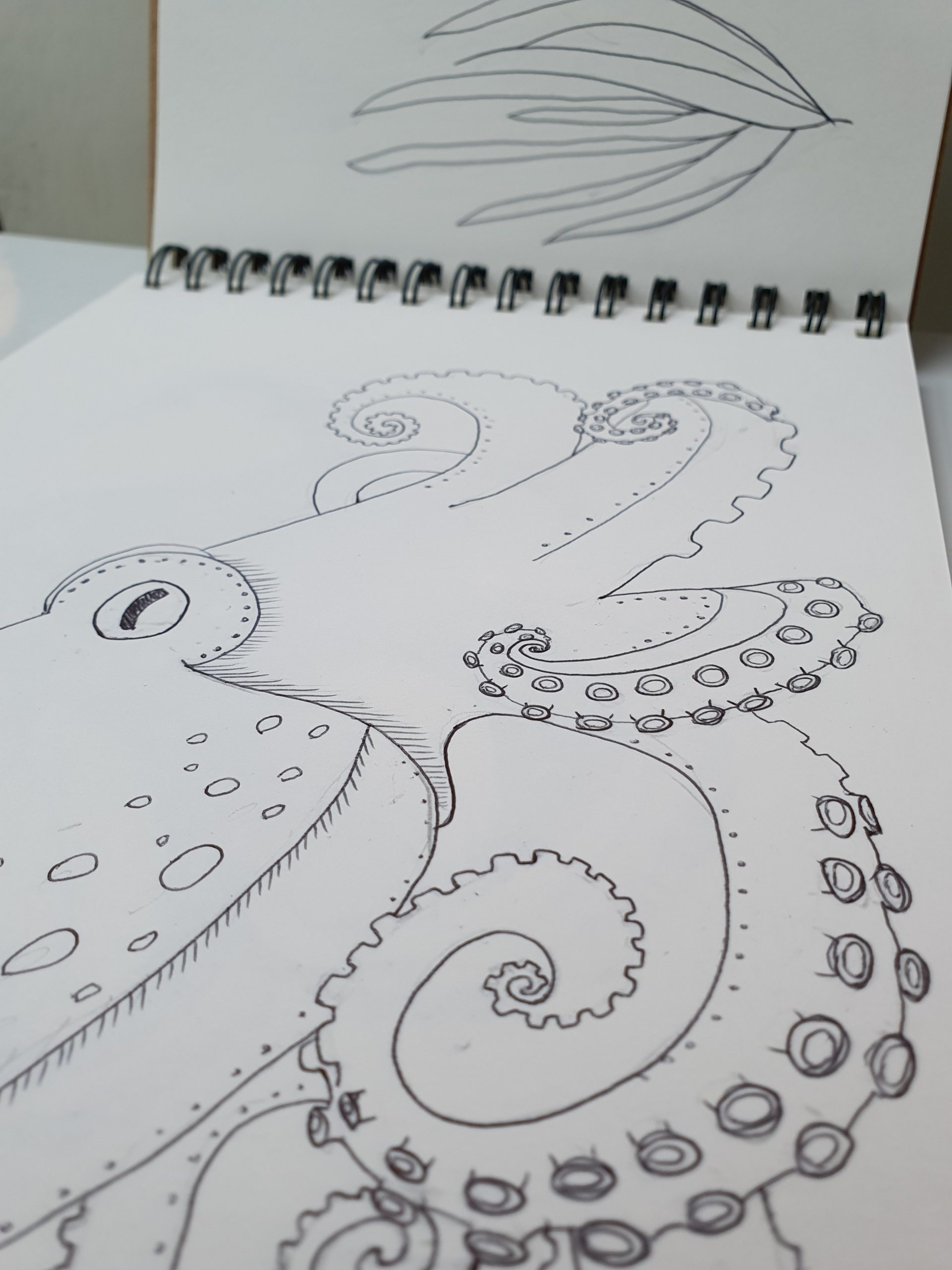 octopus sketchbook