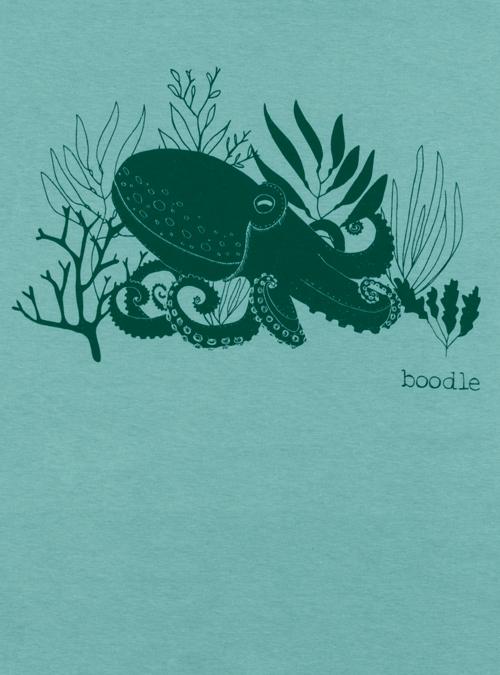 Octopus mens T-shirt close up